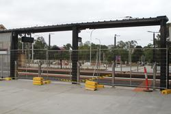 Bacchus Marsh: Entrance to the second platform fenced off