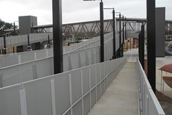 Bacchus Marsh: Ramps on the north-eastern side of the new footbridge