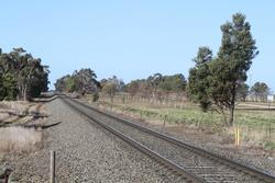 Single track east of Ingliston Road in Ballan