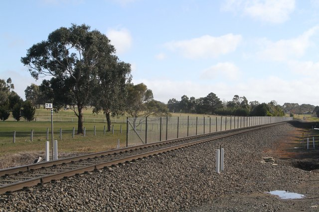 Construction of the new passing loop underway west of Ingliston Road in Ballan
