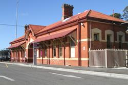 Street side of the station at Ballan