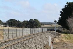 Construction of the new passing loop underway west of Cowie Street in Ballan