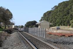Construction of the new passing loop and second platform underway at Ballan station