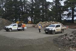 Site clearance works underway for the second platform at Ballan station