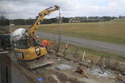 Site clearance works underway at the up end of the new Ballan Loop