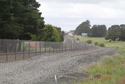Double track from Ballan ends at Geelong-Ballan Road