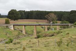 Bridge over the Bostock Reservoir eastern headwaters