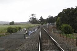 Ballan: Double track down the line from Old Geelong Road