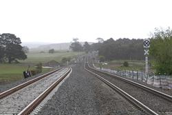 Double track west of Cowie Street