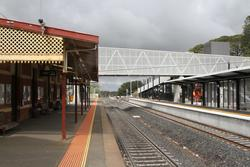 New second platform and footbridge