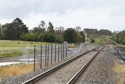 Up end of the crossing loop west of the Ingliston Road level crossing
