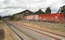 Ballarat East depot, goods shed and stored wagons