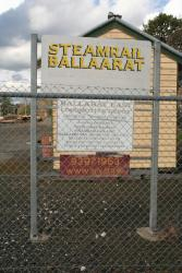Signage at the entry to the Ballarat East depot
