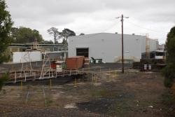 East end of the new shed at Ballarat East, turntable access has been rejigged