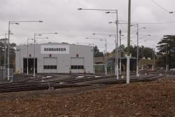 Looking east towards the sheds and fuel point at Ballarat East