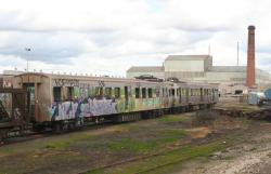 Hitachi cars 204M and 203M stored