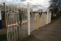 Entry gate on Creswick Road