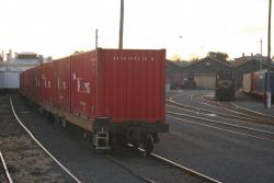 Container wagons at the goods shed