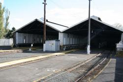 Inside the carriage sheds, located south of the station at Ballarat