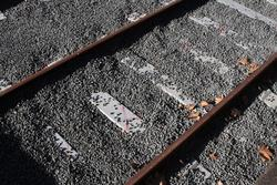 Track relaid with concrete sleepers in the dock platform