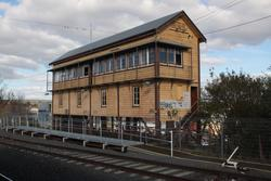 Signal box Ballarat 'A' at the up end of the station