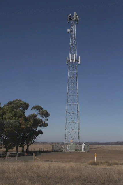 Mobile phone tower at Bank Box