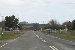Bungaree-Wallace Road level crossing in Bungaree