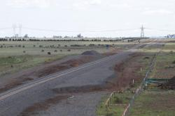 What looks to be the future site of Caroline Springs station on the single track line towards Ballarat