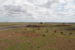 Earthworks at what looks to be the future site of Caroline Springs station