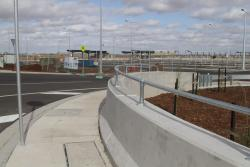 This narrow path is the only way to access Caroline Springs station on foot