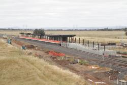 Work continues on the pedestrian subway and second platform at Caroline Springs station