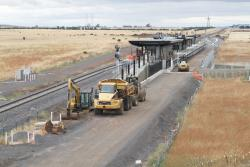 Trackbed in place for the future up track at Caroline Springs