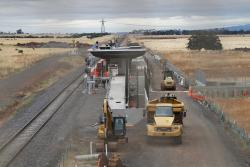 Work continues on the station and pedestrian underpass at Caroline Springs station