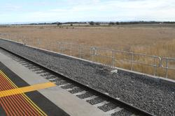 Stanchions bases in place for future electrification to Melton
