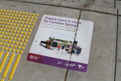 'Connecting Regional Victoria' promotion at a station clearly in metropolitan Melbourne