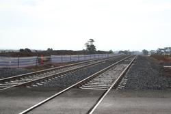 Completed track duplication west of Ferris Road