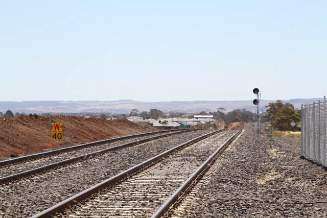 40 km/h temporary speed restriction for down trains