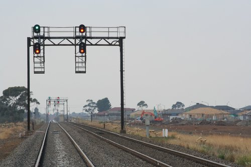 Signals 1/22 and 1/10 for up trains approaching Deer Park