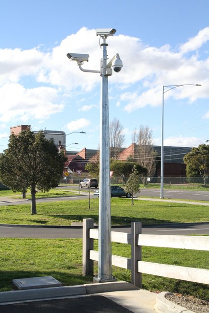 CCTV cameras cover the expanded car park on the north-east side of the station