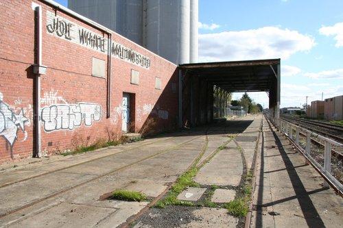 Railway sidings parallel the main line towards Ararat