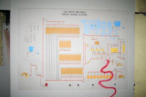 'Joe White Maltings barley intake system' diagram