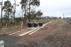 Relocated signal cables at Kerrs Road in Maddingley