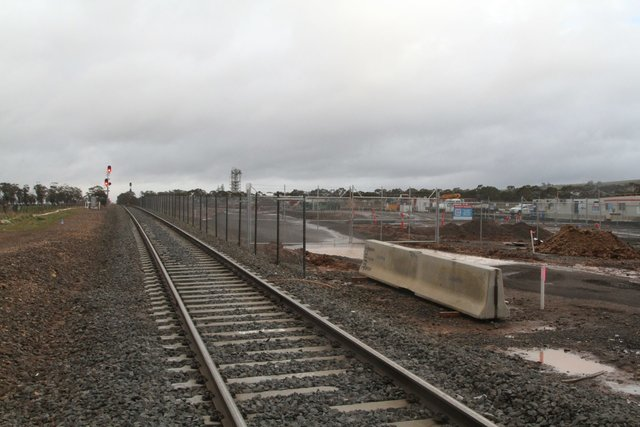 Future stabling yard taking shape south of Kerrs Road in Maddingley