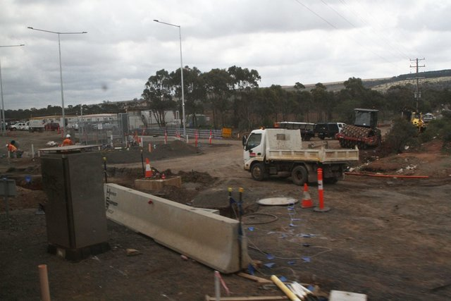 Track lead to the new Maddingley stabling yard still to be completed