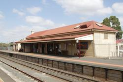 Station building at Melton platform 1
