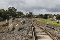 Up end of the loop at Melton, yet to be tied into the new track