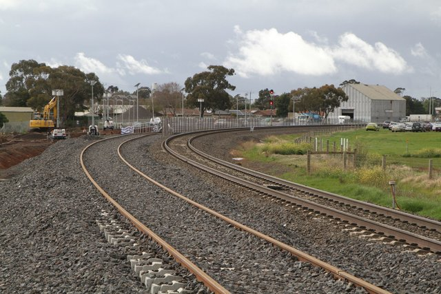 Second track in place at Coburns Road, but not yet tied into the existing loop