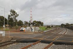 Level crossing at Coburns Road now double track