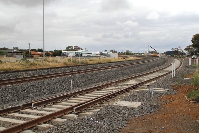 Catch point in the future down end siding at Melton