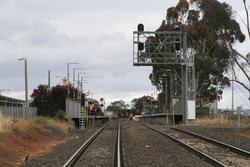 Melton: Gantry for up signals MEL712 and MEL710 still in place